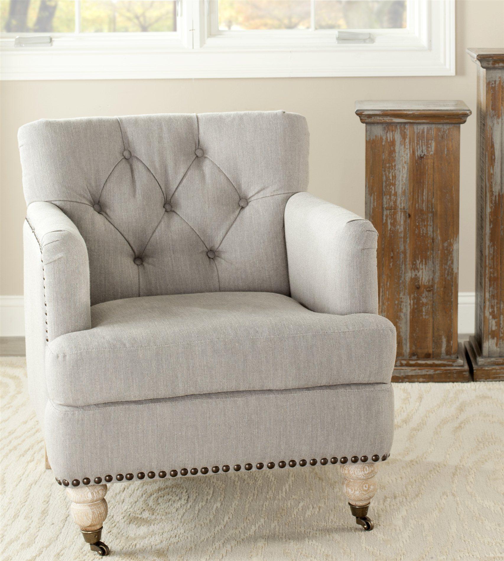 safavieh colin tufted club chair knee support hud8212e sfv