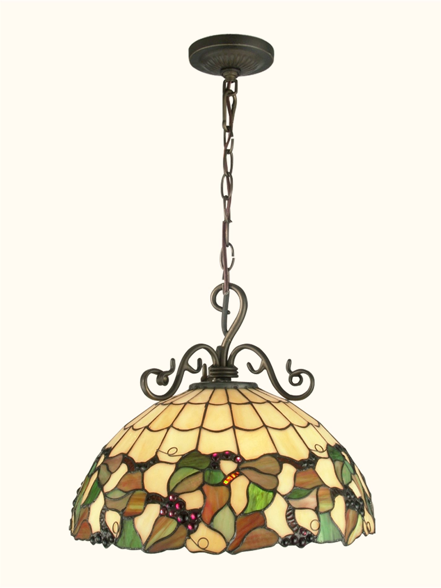 tiffany kitchen lighting outdoor shed dale th70516 grape traditional pendant