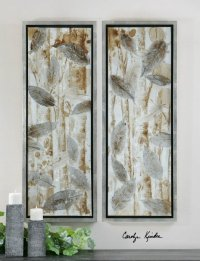 Carolyn Kinder 41412 Pressed Leaves Transitional Wall Art ...