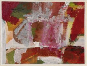 Aguayo, COMPOSITION, huile sur toile, 28x37cm, 1951