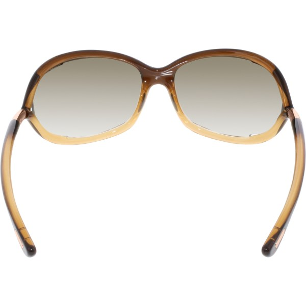 Tom Ford Women' Gradient Jennifer Ft0008-50f-61 Tan Oval