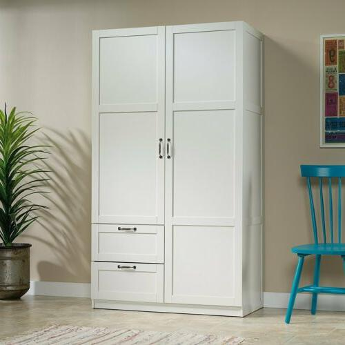 white finish armoire wooden wardrobe storage cabinet closet drawer organizer new armoires wardrobes wardrobe