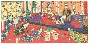 Emperor and Empress Meiji with New Year Dishes, ca. 1878