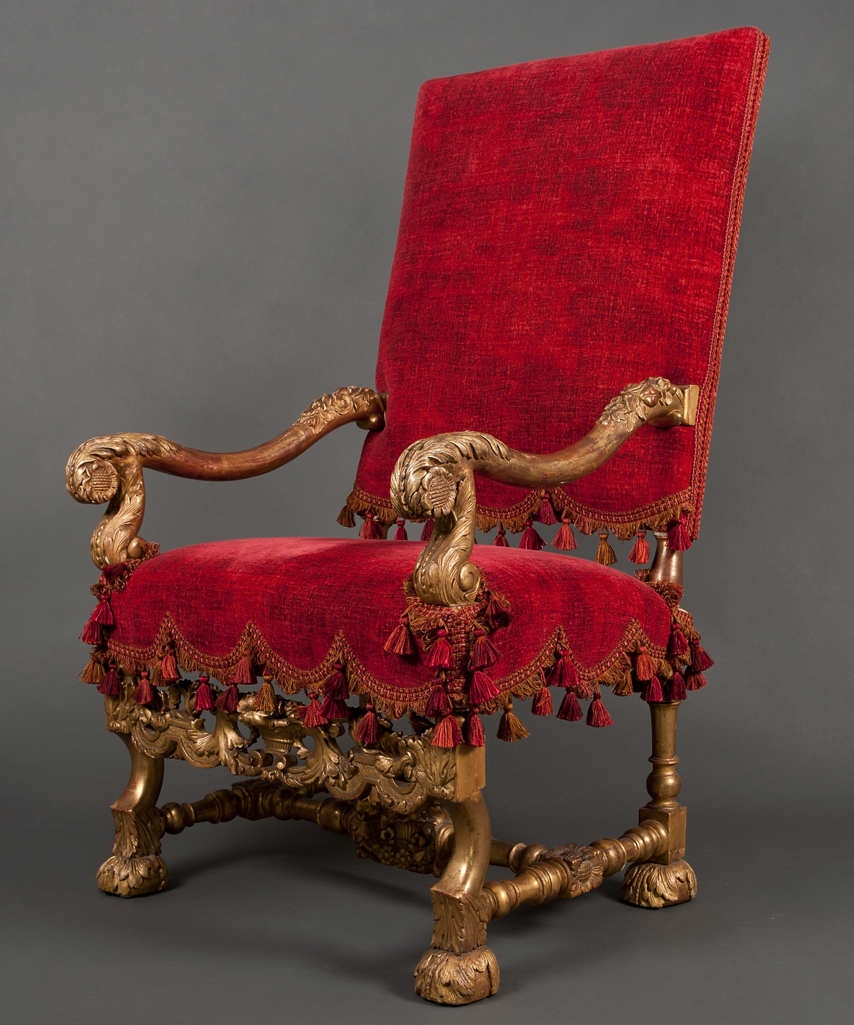 french velvet chair covers rentals online a louis xiv armchair | artlistings