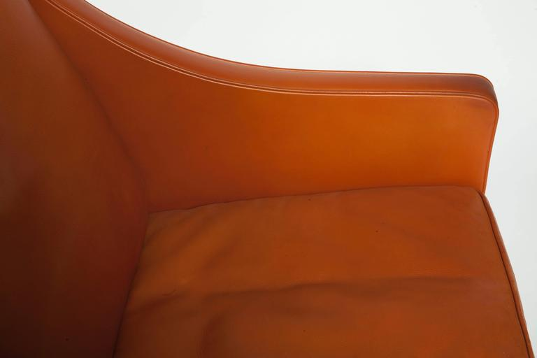 borge mogensen sofa model 2209 what can i use to clean white leather orange three seat 1960s kunstconsult