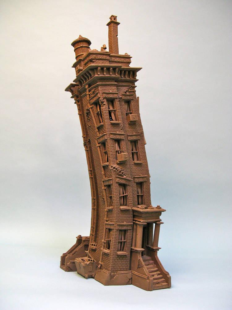 City Buildings  John Brickels  Stoneware Clay Artist