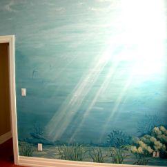 Kitchen Wall Murals Moduler Underwater Mural - Seahorse Cindy Scaife