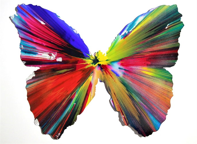 Butterfly Spin Painting Created at Damien Hirst Spin