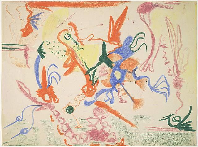 Barnett Newman, Untitled, 1944 <br>Art © The Barnett Newman Foundation, New York