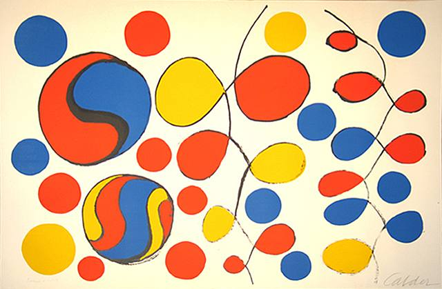 Alexander Calder, Composition with Helices and Circles
