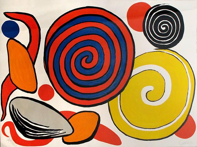 Alexander Calder, Le Pierre et Les Spirales