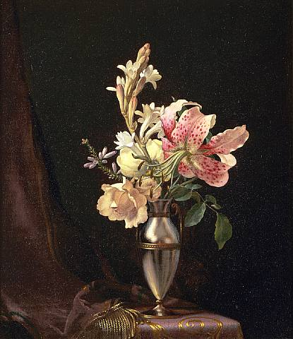 Martin Johnson Heade, Still Life with Flowers in a Vase
