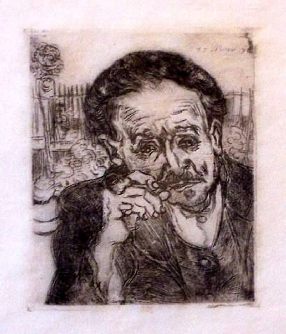 Man with Pipe (L'Homme a la Pipe) - Vincent van Gogh - 1890