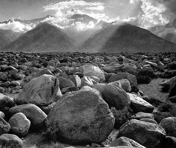 Ansel Adams, Mount Williamson, Sierra Nevada, from Manzanar, CA, 1944