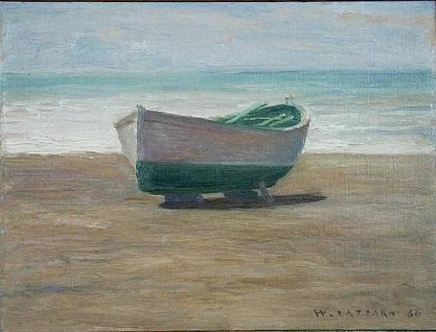 Boat against the light - Walter Lazzaro - 1960