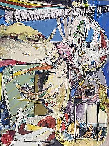 "Samuel T. Adams, 'Doppelganger,' 2008, Acrylic and Linen Over Panel, 84"" x 68"""