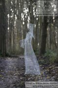 Chickenwire Females Women Girls Ladies sculpture statuettes figurines sculpture by sculptor William Ashley-Norman titled: 'Ghost (Ethereal See Through Transparent Outdoor Indoor sculpture)'