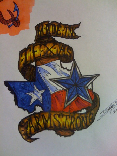 Texas Tattoo Designs : texas, tattoo, designs, Texas,, Armstrong