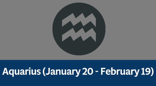 Aquarius (January 20 - February 19)