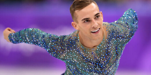 Adam Rippon of the United States competes during the Men's Single Free Program