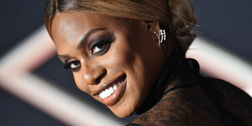 """Laverne Cox attends the Premiere of Columbia Pictures' """"Charlie's Angels"""""""