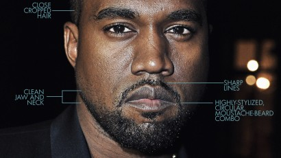 Kanye West Facial Hair Styles