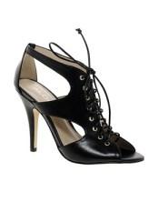ALDO Magaskawee Black Lace Up Heeled Sandals