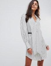 Millie Mackintosh Millie Mackintosh Hilton Stripe Belted Dress - White 2018