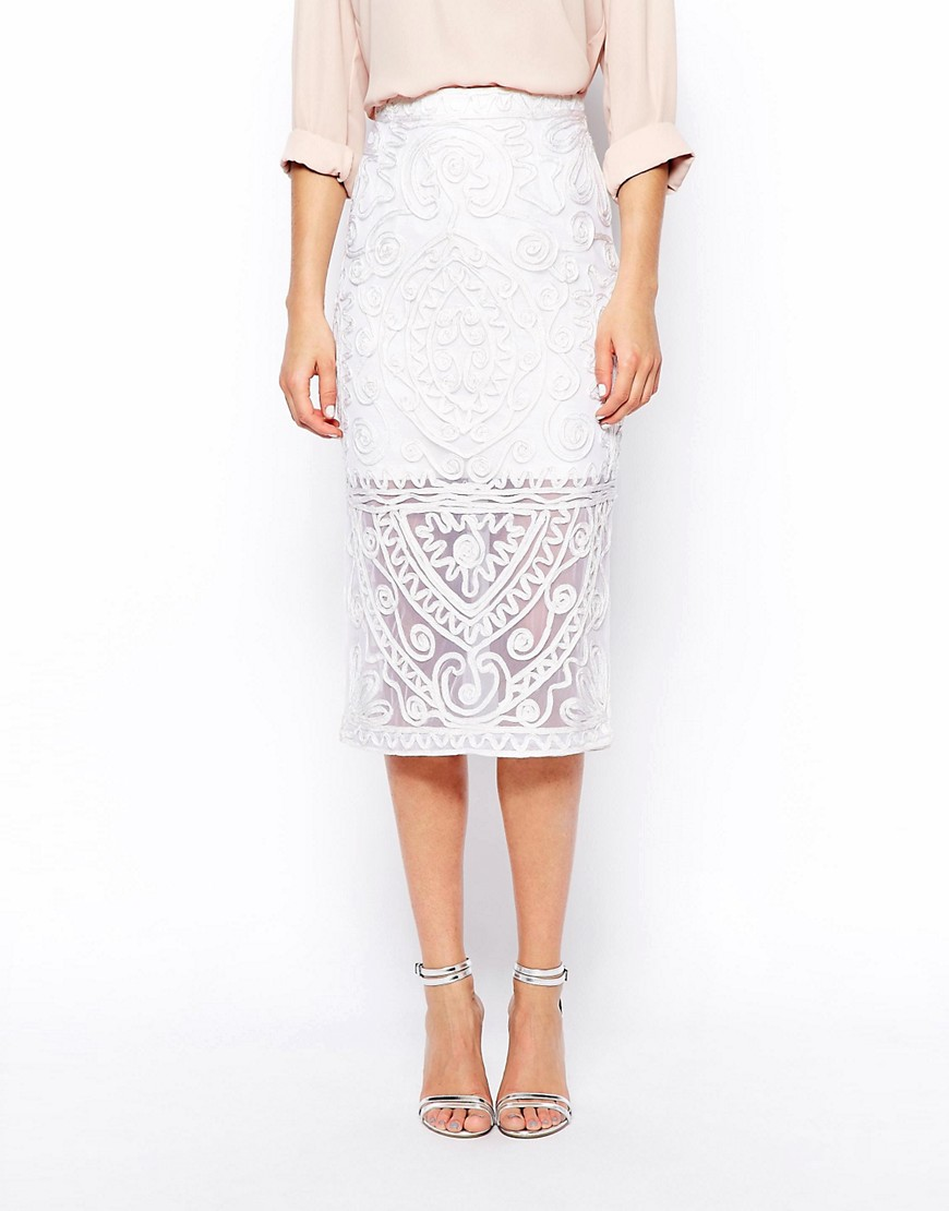 Image 4 of ASOS Cornelli Pencil Skirt