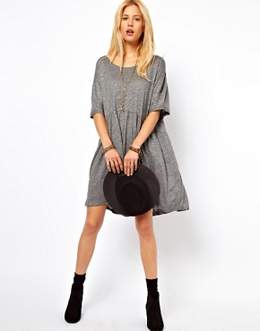 Image 4 of ASOS Smock Dress In Textured Marl