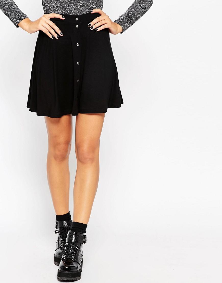 Image 4 ofASOS Mini Skater Skirt with Poppers