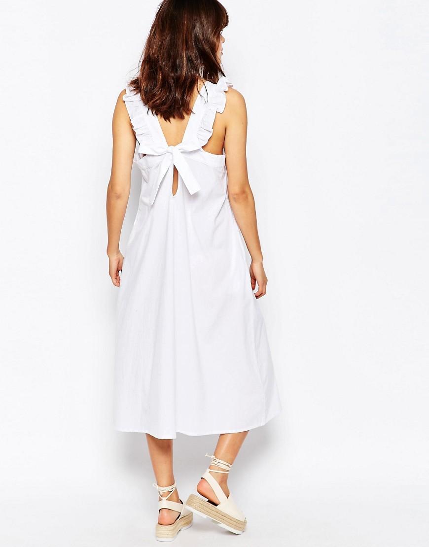 Ribbon Tie Back Midi Dress by The WhitePepper