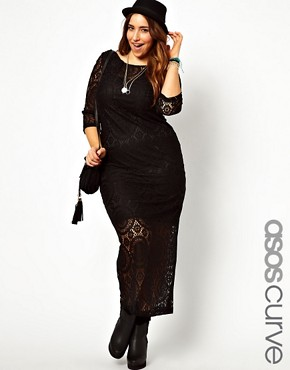 Image 1 ofASOS CURVE Exclusive Maxi Dress In Crochet Lace