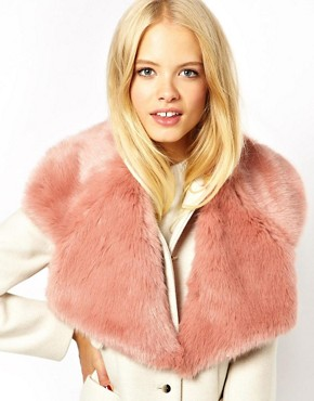 ASOS Faux Fur Lapel Collar