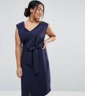 Closet Plus Closet Plus Sleeveless Tie Waist Swing Dress - Navy 2018