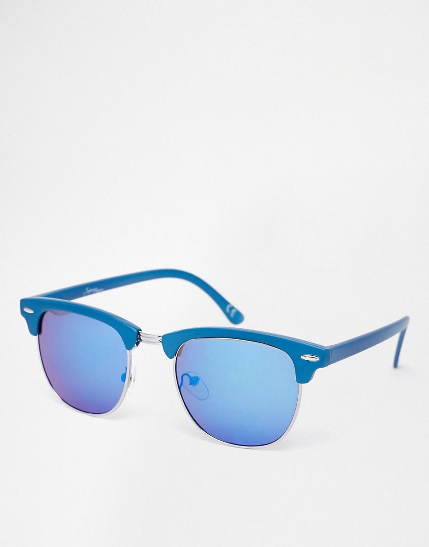 Imagen 1 de Gafas de sol estilo clubmaster con lentes de efecto espejo de Jeepers Peepers
