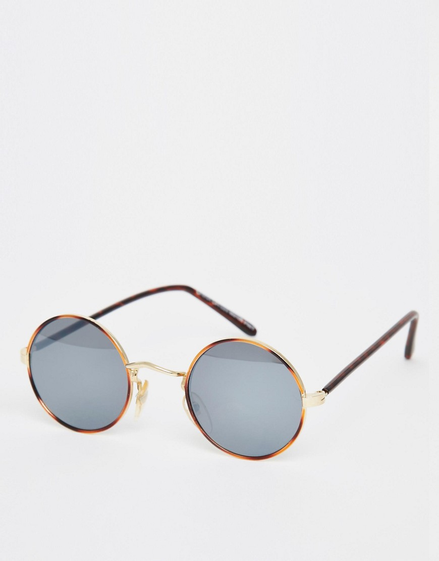 Image 1 of Hindsight Vintage Round Metal Sunglasses