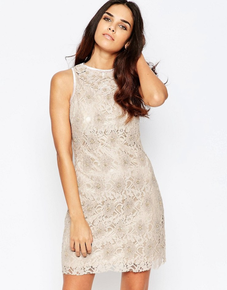 A Star Is Born Sleeveless Lace Shift Dress