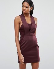 AQ AQ AQ/AQ Bodycon Mini Dress - Purple 2018