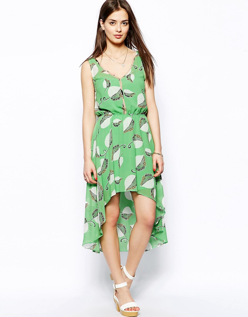 Image 1 ofTraffic People Meggy Dip Hem Dress
