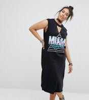 Pink Clove Pink Clove Tshirt Dress With Choker Detail - Black 2018