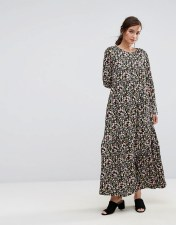 People Tree People Tree X V&A Maxi Dress In Tulip Foral - Multi 2018
