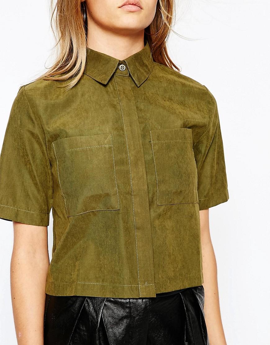 Image 3 - Lola May - Chemise fonctionnelle coupe courte avec poches avant