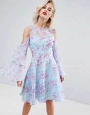Horrockses Horrockses Floral Print Midi Dress in Chiffon - Multi 2018