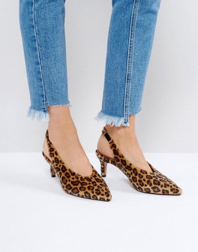 ASOS SWIFT Slingback Kitten Heels, $45.0