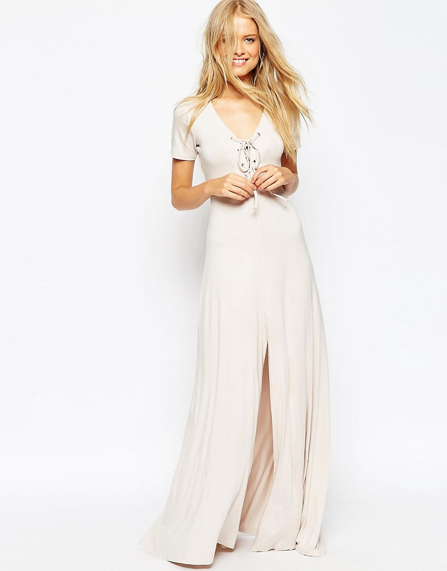 Image 1 of ASOS Lace Up Maxi Dress