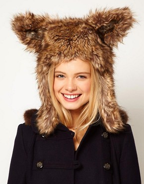 Image 1 of ASOS Faux Fur Bunny Ear Hat