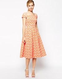 ASOS   ASOS Heart Print Jacquard Prom Dress at ASOS