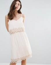 b.Young B.Young Summer Dress With Lace Insert - Pink 2018