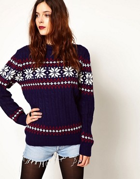 Image 1 of Pop Boutique Snowflake Knitted Jumper
